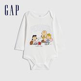 Gap嬰兒 Gap x Snoopy 史努比系列純棉包屁衣 740278-白色