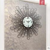 【黑色款】戀妝時尚鐘錶掛鐘客廳現代個性創意圓形時鐘靜音掛錶