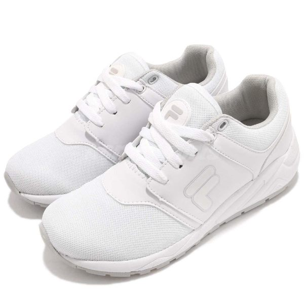 FILA 慢跑鞋 J316S 白 全白 透氣網布 運動鞋 休閒鞋 流行 女鞋【PUMP306】 5J316S114