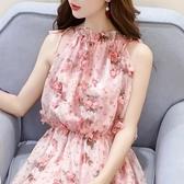 碎花洋裝 初戀仙女裙超仙森系雪紡連身裙巴厘島海邊度假沙灘裙碎花吊帶長裙完美