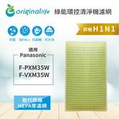 適用Panasonic:F-PXM35、F-VXM35W Wnanoe奈米水離子空氣清淨機【Original Life】全新升級淨化