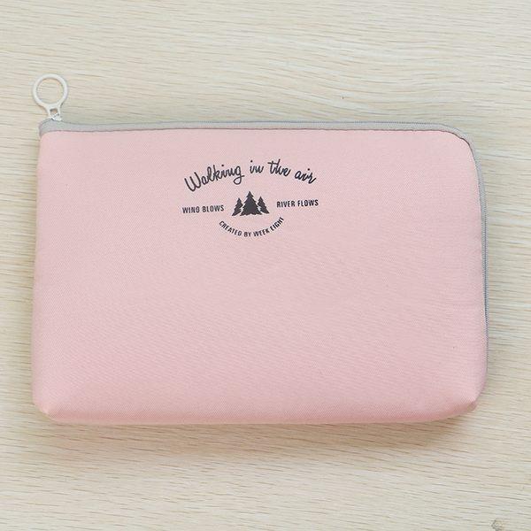 《59元專區》都會時尚風大型防震數位配件包/文具袋/化妝包-粉紅