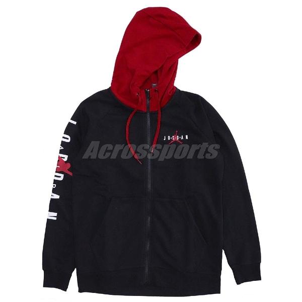Jordan 連帽外套 Jumpman Air GFX Fleece Fz 黑 紅 Bred 男款 【PUMP306】 AR4736-010