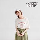 Queen Shop【01037791】字母麵包印花短袖棉T*現+預*