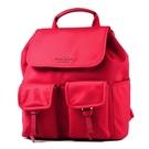 美國正品 KATE SPADE 高密度尼龍翻蓋束口磁釦後背包-紅色 【現貨】