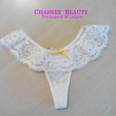 Chasney Beauty-flower蕾絲M丁褲(白)