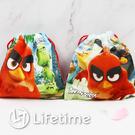 ﹝憤怒鳥小束口袋﹞正版束口袋 收納包 化妝袋 絨毛袋 Angry Birds〖LifeTime一生流行館 〗
