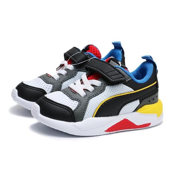 PUMA X RAY 黃藍黑紅 鋼彈配色 網布 皮革 魔鬼氈 運動鞋 小童(布魯克林) 37292203