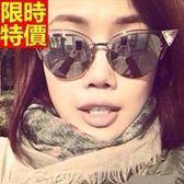 太陽眼鏡-偏光明星同款抗UV水晶貓眼反光男女墨鏡-3色67f33【巴黎精品】