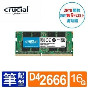 Micron 美光 Crucial DDR4 2666 16G 16GB NB 筆記型記憶體 CT16G4SFS8266