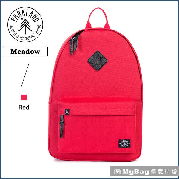 Parkland 後背包 紅色 電腦後背包 多功能休閒背包 Meadow-043 MyBag得意時袋