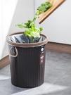 垃圾桶 大號家用大容量廁所衛生間客廳創意黑色辦公室無蓋商用【八折搶購】