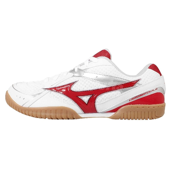 Mizuno 桌球鞋 Crossmatch Plio RX3 美津濃 白 紅 男鞋【ACS】 81GA163062