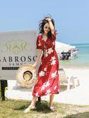 泰國普吉島沙灘裙女大碼顯瘦波西米亞長裙海南三亞旅游 伊蒂斯女裝