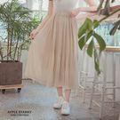 韓國連線--韓妞最愛細百褶魚尾裙-2色 蘋果星沙