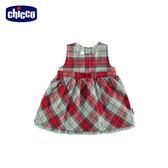 chicco-英倫-格紋背心洋裝