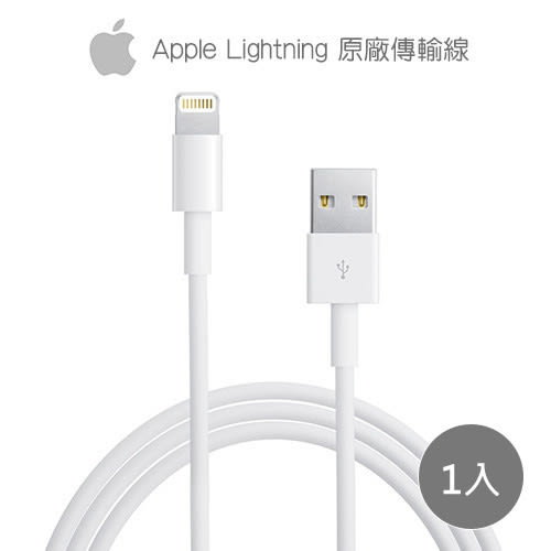《Apple》Lightning 8pin 原廠 傳輸充電線 (裸裝) x1入