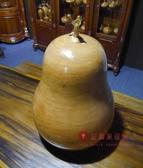 [紅蘋果傢俱] 005 聚寶盆 蒲仔 蒲瓜 藝品 擺件 招財 南洋檜木 蓋子扁柏 現貨展示