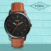 FOSSIL手錶專賣店 FS5305 極簡主義 指針男錶 皮革錶帶 黑色錶面 防水50米 全新品 保固