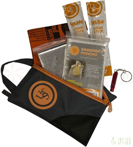 UST 美國 SS求生包套件組 20-12161 求生毯 螢光棒 哨子 登山 露營 野外 緊急求生工具 [易遨遊]