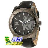 [104美國直購] Marc Ecko Men s E12551G1 The RiffGunmetal Stainless Steel and Black Leather Watch