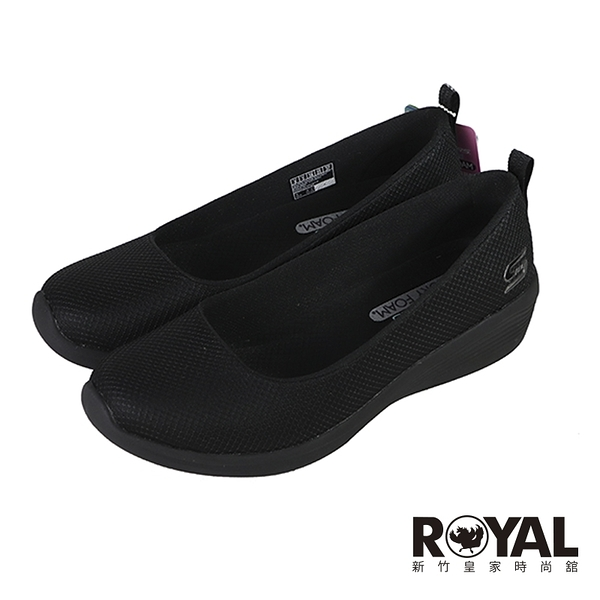 Skechers DAILY LUSTER 可機洗 黑色 網布 娃娃鞋 女款NO.J0763【新竹皇家 104114BBK】