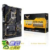 [7美國直購] 主板 ASUS TUF Z370-PLUS Gaming LGA1151 (Intel 8th Gen) DDR4 HDMI DVI M.2 Z370 ATX