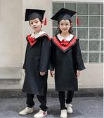 兒童博士服小學生幼兒園博士服學士服演出服博士帽畢業照服裝禮服 童趣屋
