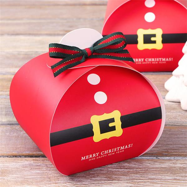 聖誕老人皮帶小餐盒 慕斯蛋糕盒 平安夜蘋果盒 手提盒 耶誕節 烘焙包裝 交換禮物 餅乾盒 西點盒
