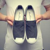 帆布鞋 韓版潮流懶人鞋休閒鞋老北京布鞋男低幫鞋《印象精品》q410