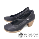 【南紡購物中心】WALKING ZONE(女)復古瑪麗珍鞋 包鞋 高跟鞋 淑女鞋- 黑(另有米)