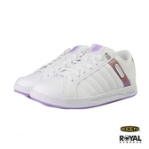 K-swiss 新竹皇家 Lundahl 白色 皮質 粉紫後跟 休閒鞋 女款 NO.I9683