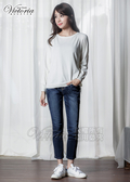 Victoria 舒活配線男友褲-女-深藍-VW505378