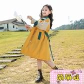 中大童裝女童春裝外套2021新款韓版兒童洋氣小女孩中長款風衣春秋【萌萌噠】