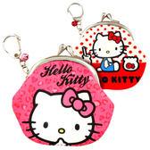 Hello Kitty零錢包 滑面口金包/零錢包附鎖扣/雙珠扣零錢包 [喜愛屋]