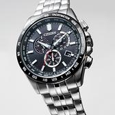 CITIZEN 星辰 光動能電波萬年曆計時手錶-43mm CB5874-90E