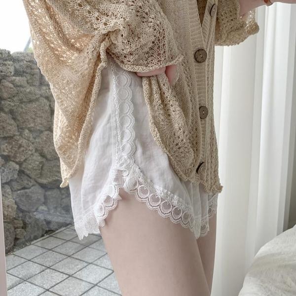 安全褲 夏季薄款打底褲寬鬆短褲保險褲高腰時尚可外穿安全褲女蕾絲防走光 非凡小鋪