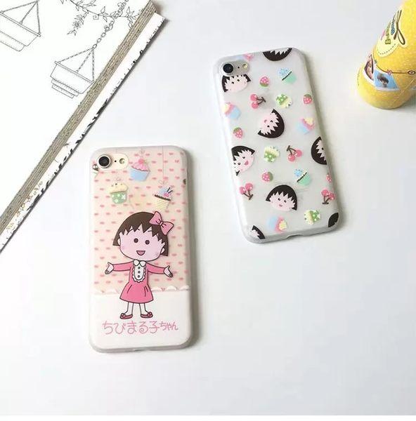 【SZ13】櫻桃小丸子主題屋 櫻桃小丸子iPhone6/7手機殼矽膠磨砂保護套 iPhone6/7plus