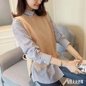 毛衣馬甲針織背心女外穿大碼寬鬆百搭無袖外搭短款開衫 qw1979『俏美人大尺碼』