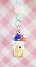 【震撼精品百貨】Hello Kitty 凱蒂貓~限定版手機吊飾-根付(牧草珠珠)