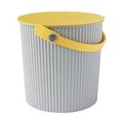 【促銷】日本優秀設計獎賞HACHIMAN時尚L型10公升收納桶(黃色系)