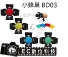 【EC數位】GODOX 神牛 96MM 孔距 4mm 小蜂巢罩 9.8cm 標準罩 BD-03 濾色片 摺疊葉片 小霸王 小先鋒