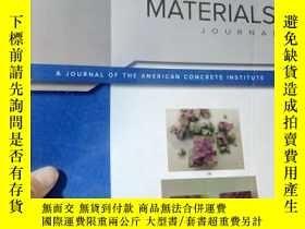 二手書博民逛書店ACI罕見MATERIALS JOURNALY15389 出版2