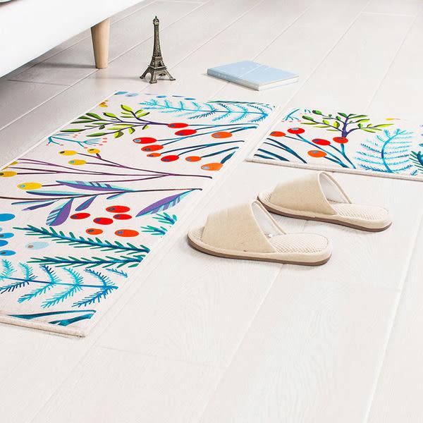 時尚創意地墊25 廚房浴室衛生間臥室床邊門廳 吸水長條防滑地毯(45cm*120cm )