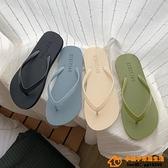 夾腳拖女夏外穿百搭時尚休閒防滑平底夾腳沙灘鞋超級品牌【桃子居家】