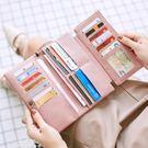 米印多卡位錢包女長款韓版新款大容量多功能手拿錢包三折女士錢夾『夢娜麗莎精品館』