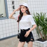 出清188 韓系高腰短褲寬鬆顯瘦牛仔褲短版單品短褲