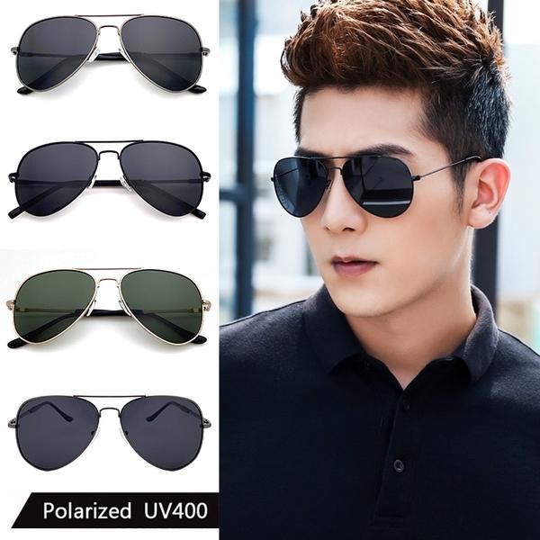 飛行員偏光墨鏡 Polaroid駕駛太陽眼鏡 僅20g 男女適用 抗紫外線UV400 時尚流行款