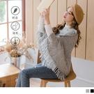 《FA2181》立體麻花針織排釦流蘇設計斗篷 OrangeBear