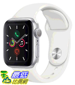[COSCO代購] W125280 Apple Watch Series 5 (GPS),40 公釐銀色鋁金屬錶殼搭配白色運動型錶環